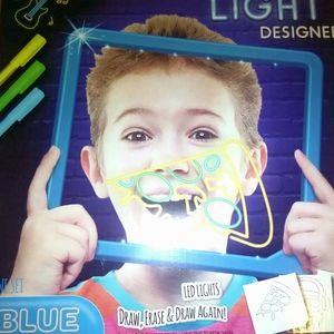 Blue clear writing board